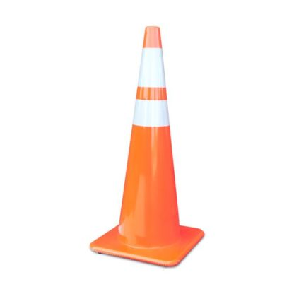 Orange cone with reflectors