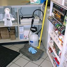 Convenience store cleaning products
